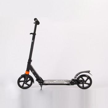 成人折疊鋁合金腳踏滑板車 | 雙減震系統 - 黑色