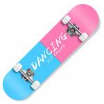 成人楓木入門級雙翹滑板 | 街頭花式滑板 - 藍粉色