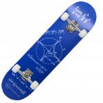 成人楓木入門級雙翹滑板 | 街頭花式滑板 - 藍色數式