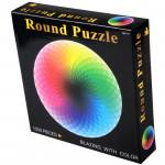 1000片圓形千色彩虹漸變拼圖