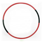 80cm 可拆卸瘦身按摩呼拉圈 - 紅色