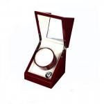 WB01 1+0單錶位自動自轉上鍊錶盒 - 木紋白