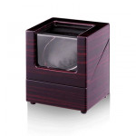 WB01 1+0單錶位自動自轉上鍊錶盒 - 木紋黑