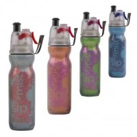 US O2COOL 12OZ sports spray cold water bottle water bottle water bottle
