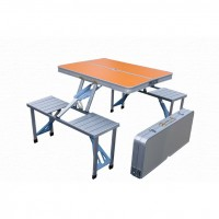 Folding seat four picnic table