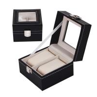 2 epitope PU leather watch storage box