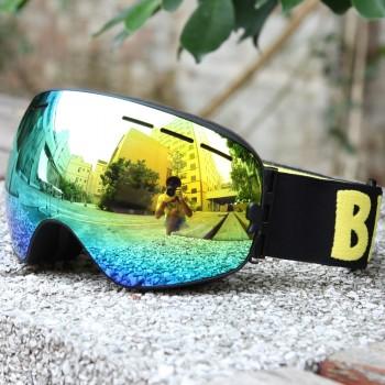 BENICE 大球面雙層防霧滑雪鏡 | 可配合眼鏡用