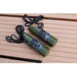 七合一多功能戶外野營救生口哨手電筒