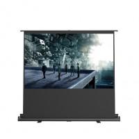 4: 3 White fiberglass pull opening tab rack projection screen HD | 100inch