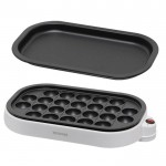 日本 IRIS ITY-24W -W 章魚燒電煎板 | 小丸子燒肉烤盤