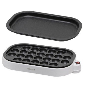 日本 IRIS ITY-24W -W 章魚燒電煎板   燒肉烤盤