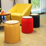 42cm 創意風琴紙傢俬折疊凳子 | 蝸居圓櫈