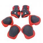 兒童護具護膝護肘6件套裝 - 紅色