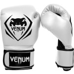 Venum CONTENDER 專業成人泰拳拳套 - 14oz 白色