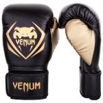 Venum CONTENDER 專業成人泰拳拳套 - 14oz 黑金