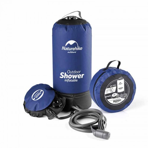 NatureHike 戶外曬水淋浴袋 (NH17L101-D)   野外洗澡沐浴袋  腳踏式沐浴器