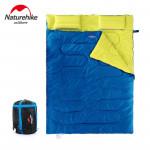 NatureHike 戶外情侶雙人睡袋 (SD15M030-J) - 藍色    情侶款四季露營 純棉加寬 加厚保暖