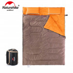 NatureHike 戶外情侶雙人睡袋 (SD15M030-J) - 棕色    情侶款四季露營 純棉加寬 加厚保暖