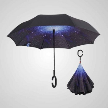 C double reverse handle hands-free umbrella