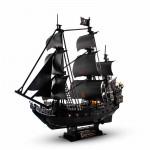 CubicFun 3D立體拼圖LED燈黑珍珠號海盜船模型