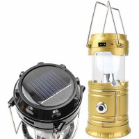Solar rechargeable portable camping lights LED