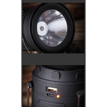 LED太陽能充電手提野營燈
