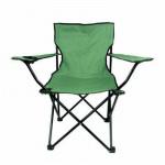 戶外透氣摺疊扶手椅導演椅 | 野外露營休閒椅 沙灘椅釣魚椅 - 綠色