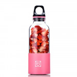 BINGO USB充電式防水電動榨汁杯 | 隨身果汁杯 - 粉紅色