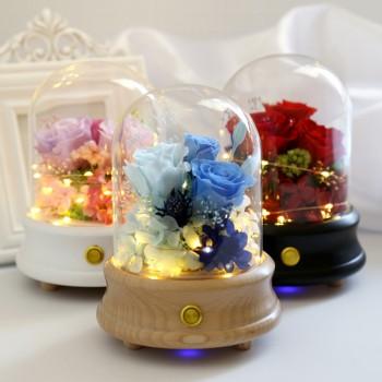 ETERNA 玻璃罩小花園永生玫瑰藍牙音箱
