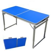 The portable folding station folding table rectangular aluminum