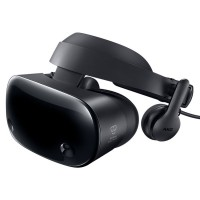Samsung HMD Odyssey VR virtual reality device worn | licensed in Hong Kong