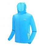 戶外防曬降溫風扇衣服 | 夏日消暑空調長袖風衣 冷凍衣 - 藍色