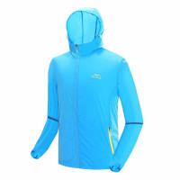 戶外防曬降溫風扇衣服 | 夏日消暑空調長袖風衣 冷凍衣 - 藍色M碼