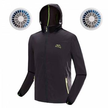 戶外防曬降溫風扇衣服 | 夏日消暑空調長袖風衣 冷凍衣