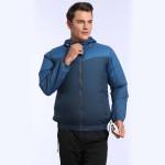 BEYOND WIND 戶外對流風扇防曬風衣 - 藍色XL碼 | 空調衣 降溫長袖風衣風褸  冷凍衣 風扇衣 連電池可調風速