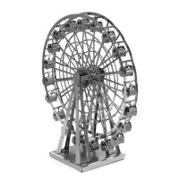 DIY 3D three-dimensional metal puzzle | silver money simulation model of multi-style mini Ferris wheel boat Arc de Triomphe