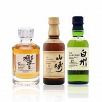 Japan's Suntory Suntory Whiskey Gift Set | Yamazaki ring 17 years 12 years 12 years of wine do Hakushu