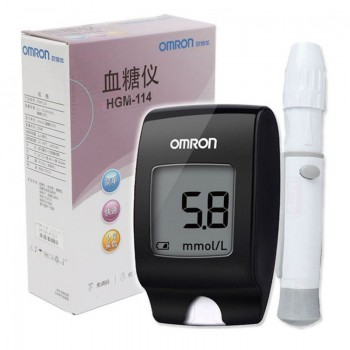 OMRON  HGM-114 血糖儀套裝  (加25片Omron AS1 血糖試紙 及25支針頭)
