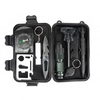 INHOMIE travel outdoor equipment multifunction survival tool kit