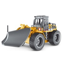HUINA 6-channel alloy remote control snowplow bulldozers | remote control vehicle