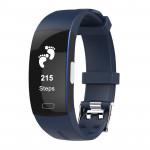 P3 運動智能手環 | PPG+ECG 血壓心率雙重監測 心電圖顯示 IP67防水 - 藍色