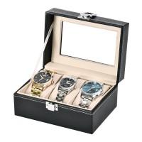 3 epitope PU leather watch storage box