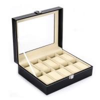 10 epitope PU leather watch storage box