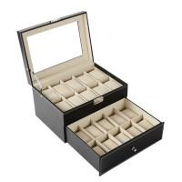 20 epitope PU leather watch storage box