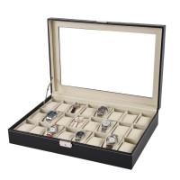 24 epitope PU leather watch storage box