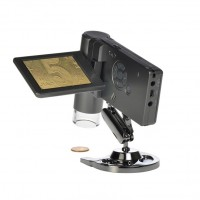 500 times handheld portable microscope with screen