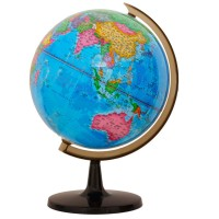 Desks globe in English | 32cm style three-dimensional map of the world