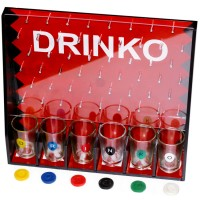 DRINKO party game toy marbles glass of wine to make drinking SHOT GAME