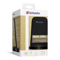 Verbatim 15W 站立式雙線圈無線充電器   行貨一年保養