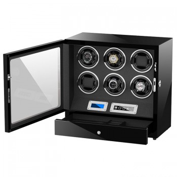Simplewishes 6表位自動上鍊手錶盒 LED夜燈 開蓋自停